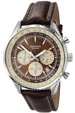 Gents Sekonda 3407 Brown Leather Strap Chronograph Watch