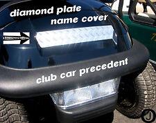 Club Car PRECEDENT golf cart Highly Polished Diamond plate Name Cover