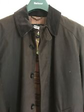 Barbour Merton Mac Jacket Brown Waxed Medium Size New With Tags