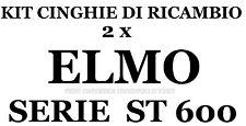 KIT CINGHIE DI RICAMBIO 2 x PROIETTORE SUPER 8 mm ELMO ST 600 D MO-M-MO-DM ★