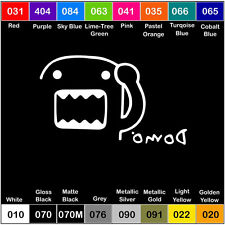 DOMO V2 Corner Vinyl Decal JDM Sticker Window Car