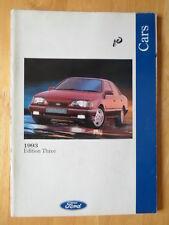 FORD CARS 1993/10 UK Market prestige brochure - Fiesta XR2i, Escort XR3i Granada