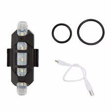 Luz de 5 led trasera bicicleta bateria recargable usb flash impermeable blanca