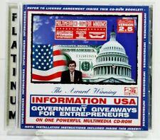 Information USA Government Giveaways for Entrepreneurs Disc Matthew Lesko Grants