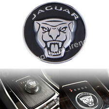 42mm Black Shift Knob Stick Emblem Badge Cap Cover For F-Pace XJ XE XF