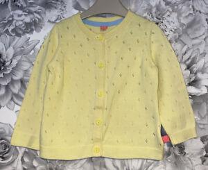 Girls Age 9-12 Months - Little Bird Yellow Cardigan