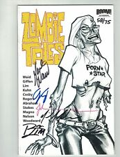 ZOMBIE TALES #1-2005 SKETCH VARIANT-5X SGND/NMBRD EDITION-MARK WAID-RON LIM-VF