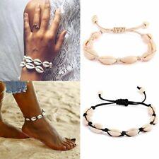 Handmade Natural Seashell Bracelet Beach Shells Beaded Strand Bangle Women Gift