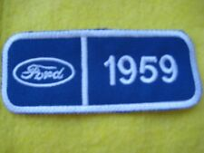 """Ford 1959 Thunderbird  Truck Service Dealer Uniform Hat Patch 4 """"X 1 5/8"""""""