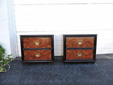 Hollywood Regency Mid Century Pair of Nightstands End Side Tables by Dixie 8363