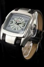 Jay Baxter Herrenuhr Ziffernblatt Grau Weiß Armbanduhr Echt Leder PJB273