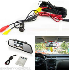 8LED IR Car Reversing Backup Parking Camera & Rearview Mirror Monitor For Toyota