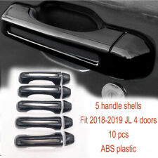 Fit Jeep Wrangler 2018 Jl Tailgate & 4 Door Handle Cover Trim Decor Accessories