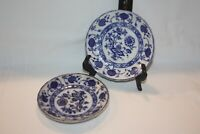 Allertons England - Set of 2 - Flow Blue Onion Saucer