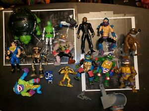 80s And 90s Vintage Toys Lot Tmnt Power Rangers Beast Wars Double Dragon etc