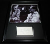 Fritz Weaver Signed Framed 11x14 Photo Display Creepshow B