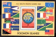 (Ref-9490) Solomon Islands 1981 South Pacific Games M/Sheet  SG.MS444 Mint (MNH)