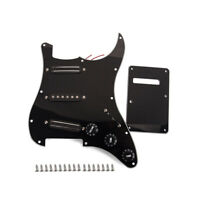 SSS Guitar Loaded Prewired Pickguard Alnico V Dual Rail Pickup Sets for ST Strat