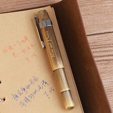 DELIKE Classic Alpha Screw Extra Fine 0.38mm Nib Fountain Pen Metal Brass Gift#J