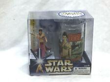 2004 Star Wars ROTJ Return of Jedi Princess Slave Leia Figure Cup Set Boxed NEW
