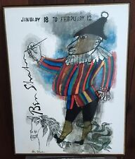 20x14 Large Vintage Mounted  BEN SHAHN Print Poster JESTER ON A HORSE