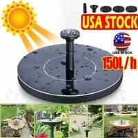 Bird bath Solar Powered Floating Pumps Water Outdoors Fountain Pool Garden Decor