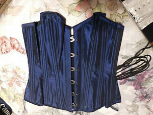 Corset Story Navy Blue Taffeta Corset*Size 24*New With Tags*Beautiful