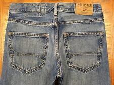 HOLLISTER HERMOSA BUTTON FLY JEANS HEMMED TO 31 x 28 Tag 29 x 30 EUC BEST C77