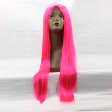 Straight remy women female wig Lace Front Wigs Selma color hair Neon Pink