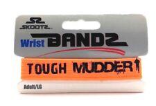 Tough Mudder Challenge Wrist Bandz by Skootz Neon Orange Adult Sz L Workout Band