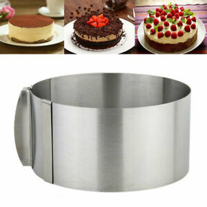 """6""""-12"""" Adjustable Round Mold Ring Cake Circle Cookie Cutter Mousse Layered Cake"""