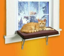 Cat Bed Window Perch Seat Mounted Shelf with Fleece Cover