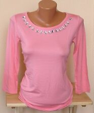 Melrose - Shirt Gr. 38 mit Steinchen lachsfarben NEU (59)
