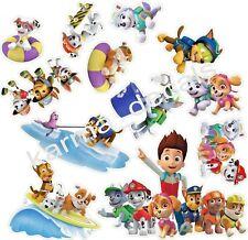 "PAW PATROL set 3D WALL STICKER SET decor ART KIDS DECAL Stickers 14"" set of 12"