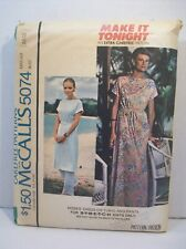 McCall's Pattern 5074 Misses Size Large (18-20) Dress Tunic Pants Uncut Vintage