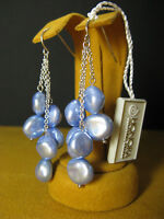 HONORA PEARL EARRINGS SKY BLUE KESHI CLUSTER DANGLE Gift