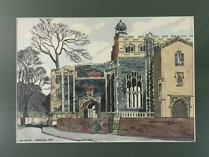 NORMAN: Stunning Painting East Bergholt Church Signed 1969 Framed