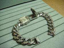milos watch bracelet 17 jewel milos spy hidden compartment cuban link RUNS