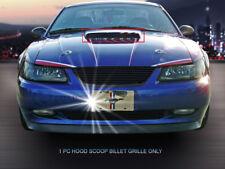 Fedar Black Hood Scoop Billet Grille Insert For 1999-2004 Ford Mustang GT V8