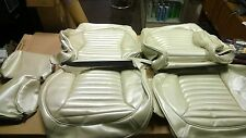 1965 Mustang Standard Touring II (Procar) Front Seat Upholstery - White 65