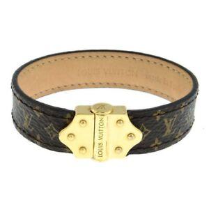 Louis Vuitton Nano Monogram Bracelet - Size 17 with box and dust bag.
