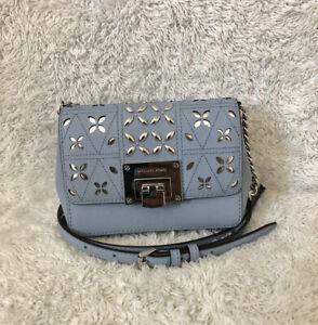 Michael Kors Tina Pale Blue Clutch CrossBody bag