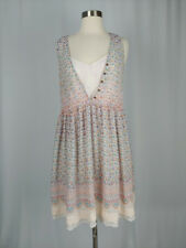 Anthropologie Maeve Violetta Dress MEDIUM Floral Sheer Lace Dress with Slip