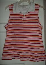 5f51e89ab5da4 MOTHERHOOD MATERNITY Nursing Wear Striped Sleeveless Maternity Top LARGE  12-14