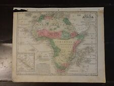 1840 Hand Colored Antique Engraved Map of Africa from Mitchell's Atlas