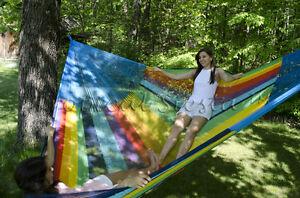New Cotton Jumbo Mexican Hammock | XXXL  Breezy Point® Mayan Hammocks Camping