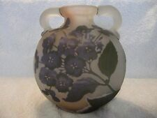french original emile Galle cameo glass hydrangea vase-flask star mark 1904