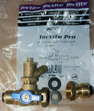 TECTITE PRO WATER METER ASSEMBLY15MM X 3/4 FLANGE  PLUS DRAIN COCK