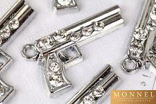 M173 Adorable Pistol Gun Crystal Charm Pendant Wholesale (10 pcs)