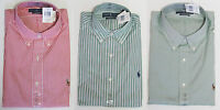 Polo Ralph Lauren Mens Navy Pony Logo Classic Fit Button LS Sport Dress Shirt